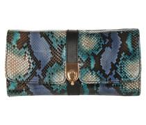 Schlangenleder Tasche blau
