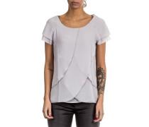 Damen 1/2 Arm Bluse Layer Look grau