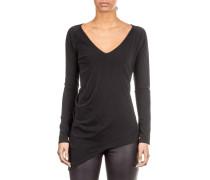Damen Langarmshirt GEORGIE-A Asymmetrisch schwarz
