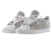 Damen Sneaker STRASS weiß