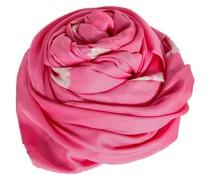 Seide Tuch pink weiß