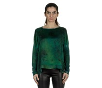 Langarm Pullover aus Seidenmischung grün