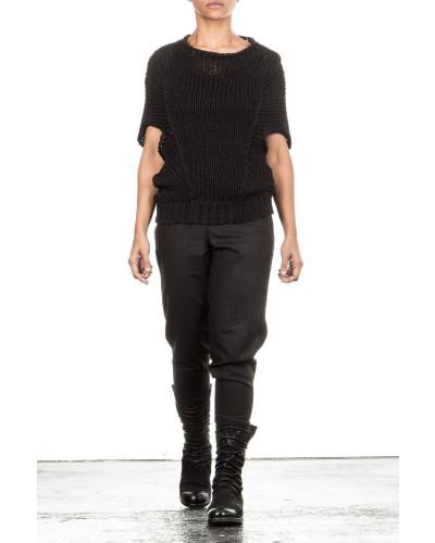 Grobstrick Pullover schwarz