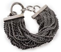 Silber Armband BR1066 silber schwarz