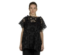 Ausgestelltes Oversized Shirt schwarz