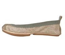 Yosi Samra Ballerinas rainbow glitter gold