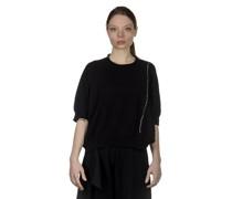 Y's  Cropped-Pullover mit Verzierung schwarz