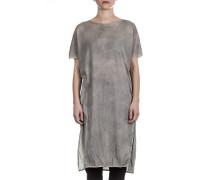 Damen Jerseykleid mit Schlitz stone