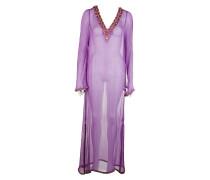 Seiden Kleid violett