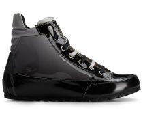 Candice Cooper High Top Sneaker im Lack-Look - schwarz/grau