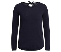 Department 5 Wollpullover mit Oval-förmigem Rückenausschnitt – blau