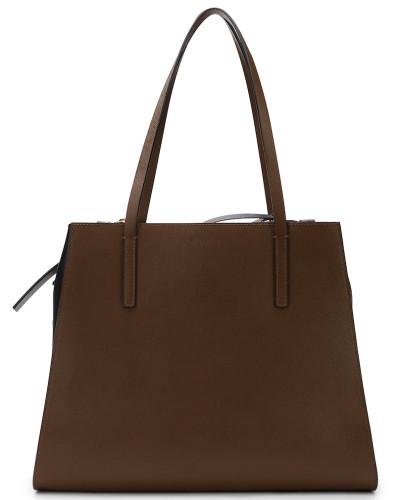 marni damen marni handtasche im blockfarben design braun schwarz reduziert. Black Bedroom Furniture Sets. Home Design Ideas