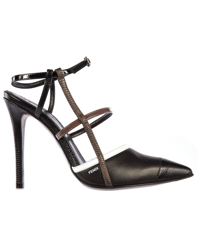 fendi damen fendi high heels mit riemen schwarz 45. Black Bedroom Furniture Sets. Home Design Ideas