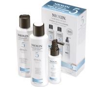 Nioxin Starter Set normale bis geringe Haardichte - normal-kräftig-naturbelassen / chem. behandeltSystem 5 Cleanser 150 ml + Scalp Revitaliser 150 ml + Scalp Treatment 50 ml
