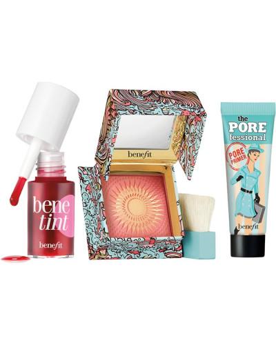 Teint Primer West Coast Wonders Make-up Set Benetint Lip & Cheek Stain Mini 4 ml + The POREfessional Pore 7;5 Galifornia Rouge 3 g