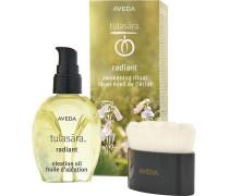 Skincare Spezialpflege Tulasara Radiant Awakening Ritual Radiant Oleation Oil 50 ml + Facial Brush
