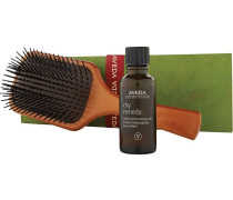Hair Care Styling Pure Moisture for Hair Set Dry Remedy Daily Moisturizing Oil 30 ml + 1 x Wooden Paddle Brush