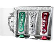 Pflege Zahnpflege Geschenkset Classic Strong Mint 25 ml + Whitening Mint 25 ml + Cinnamon Mint 25 ml