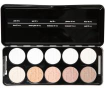 Make-up Augen Shadow Profi Set - Pure Enthält folgende Lidschattenfarben 01w-c; 02w-c; 03w-c; 04w-c; 07c; 08c; 14w-c; 48w-c; 57w-c; 84c