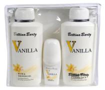 Damendüfte Vanilla Geschenkset Hand & Bodylotion 500 ml + Body & Shower Gel 500 ml + Deo Roll-On 50 ml