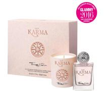 Damendüfte Eau de Karma Geschenkset Eau de Parfum Spray 50 ml + Kerze 150 g