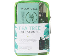 Haarpflege Tea Tree Special Tea Tree Hair Lotion Set Reinigende Pflegelotion 12 x 6 ml + Tea Tree Special Shampoo 75 ml + 75 ml Tea Tree Special Shampoo + Tea Tree Special Conditioner 75 ml