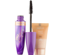 Make-up Augen Big & Beautiful Zig Zag Mascara + Mattitude Foundation Mini Mascara Nr. 800 Black 12 ml + Mattitude Foundation Mini Nr. 102 Golden Beige 15 ml
