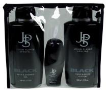 Herrendüfte Black Geschenkset Bath & Shower Gel 500 ml + Bodylotion 500 ml + Deo Roll-On 50 ml