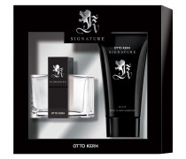 Herrendüfte Signature Man Geschenkset Eau de Toilette Spray 30 ml + Body & Hair Shampoo 75 ml