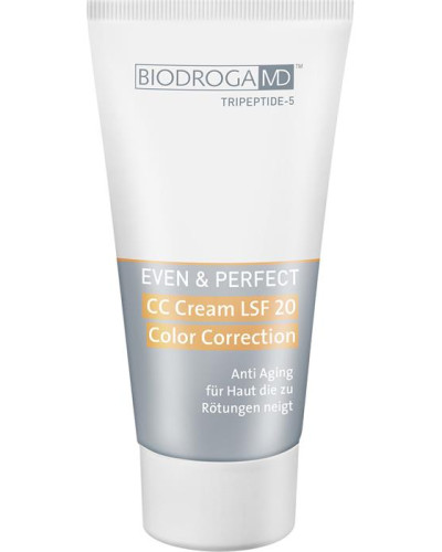 Even & Perfect CC Cream LSF 20 Color Correction Für Haut; die zu Rötungen neigt