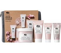 Masken Geschenkset Original Skin Matte Moisturizer 75 ml + Cleansing Make-up Removing Jelly 30 Renewal Serum 15 Retexturizing Mask Rose Clay Cosmetic Bag