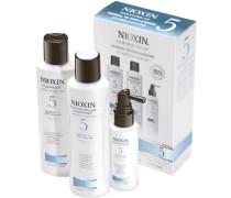 Nioxin Starter Set normale bis geringe Haardichte - normal-kräftig-naturbelassen / chem. behandelt System 5 Cleanser 150 ml + Scalp Revitaliser 150 ml + Scalp Treatment 50 ml