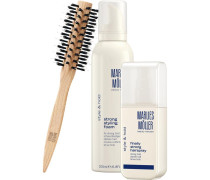 Beauty Haircare Weihnachtssets Style & Hold Set Strong Styling Foam 200 ml + Finally Strong Hair Spray 125 ml + Medium Round Brush