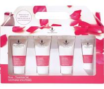 Pflege Rose Soothing Solutions Travelsize Set Duschemulsion 30 ml + Body Soufflé 30 ml + Gesichtsreinigungsgel 30 ml + Gesichtscreme 15 ml