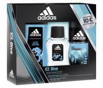 Ice Dive Geschenkset Eau de Toilette Spray 50 ml + Deodorant Body Spray 150 ml + Shower Gel 250 ml