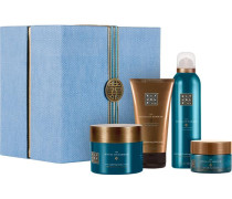 The Ritual Of Hammam Purifying Collection Giftset Refreshing Foaming Shower Gel 200 ml + Sea Salt Hot Scrub 125 g + Ultra Hydrating Black Soap 150 ml + Soul Uplifting Body Cream 220 ml