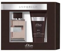 Herrendüfte Superior Men Geschenkset Eau de Toilette Spray 30 ml + Shower Gel & Shampoo 75 ml