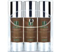 Herrenpflege Men Oleosome Travel Set Over Night Peeling 50 ml + Face Concentrate 50 ml + Rich Cream 50 ml