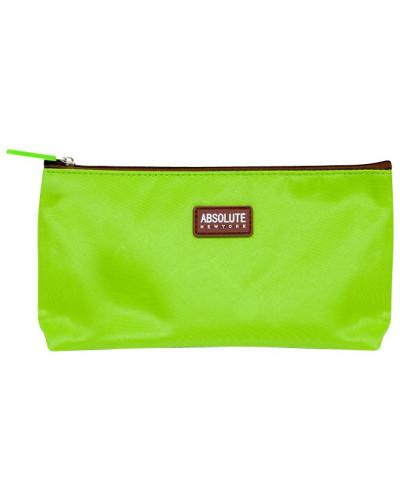 ABSOLUTE NEW YORK Damen Kosmetiktasche Green Microfiber Cosmetic Bag
