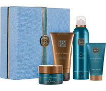 The Ritual Of Hammam Purifying Ritual Giftset Refreshing Foaming Shower Gel 200 ml + Ultra Hydrating Black Soap 150 ml + Sea Salt Hot Scrub 125 g + Purifying Body Mud 70 ml