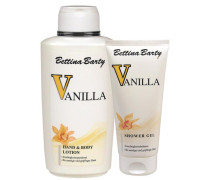 Damendüfte Vanilla Geschenkset Hand & Body Lotion 500 ml + Bath & Shower Gel 150 ml