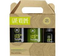 Haarpflege Tea Tree Lemon Sage Give Volume Set Lemon Sage Thickening Shampoo 300 ml + Lemon Sage Thickening Conditioner 300 ml + Thickening Spray 75 ml
