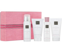 The Ritual Of Sakura Relaxing Treat Giftset Sensational Foaming Shower Gel 50 ml + Caring Shower Oil 75 ml + Magic Touch Body Cream 70 ml + Softening Rice Scrub 70 ml