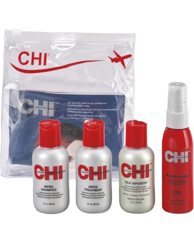 Haarpflege Infra Repair Travel Set Infra Shampoo 50 ml + Infra Treatment 50 ml + Silk Infusion 59 ml + 44 Iron Guard 59 ml