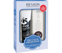 Haarpflege Revlonissimo 45 Days Revlonissimo Dream Team Set Radiant Darks 45 Days Total Color Care Radiant Blacks 275 ml + Nutri Color Creme Braun 411 100 ml