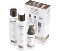 Nioxin Starter Set sichtbar abnehmende Haardichte - fein-chemisch behandelt System 4 Cleanser 150 ml + Scalp Revitaliser 150 ml + Scalp Treatment 40 ml