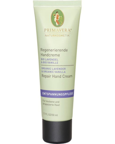 Naturkosmetik Entspannungspflege Lavendel Vanille Regenerierende Handcreme