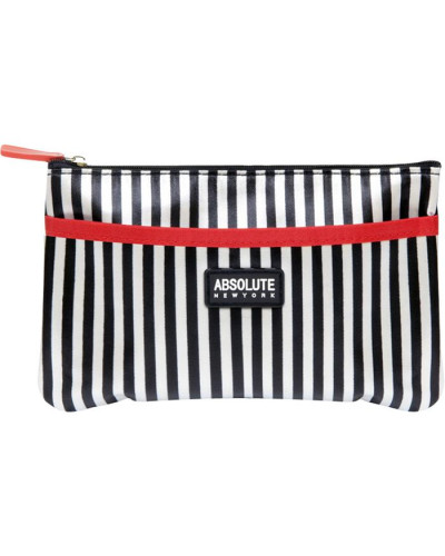 ABSOLUTE NEW YORK Damen Kosmetiktasche Mono Stripe Satin Cosmetic Bag