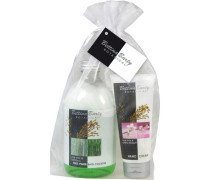 Pflege Botanical Geschenkset 2-Phasenbad Rice Milk & Bamboo 500 ml + Handcreme Rice Milk & Cherry 100 ml