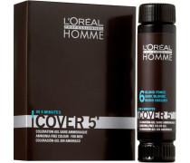 Herren Homme Cover 5 Graukaschierung Nr. 4 Mittelbraun